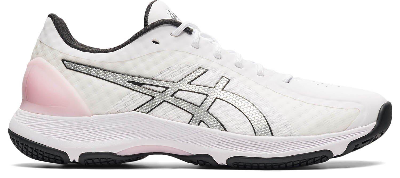 2021 Asics Gel Netburner Super Netball Trainers - White / Silver