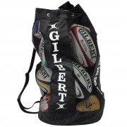 Gilbert Netball Ball Breathable Tube Bag - Black