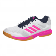 2021 Adidas SpeedCourt W Netball Shoes - White/Pink