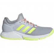 2021 Adidas Court Team Bounce Women's Netball Shoes - Grey/Yellow