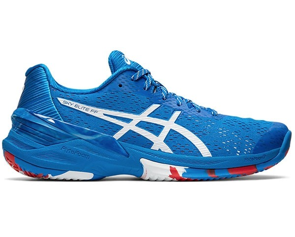 2021 Asics Sky Elite FF Limited Edition Netball Trainers - Electric Blue/White