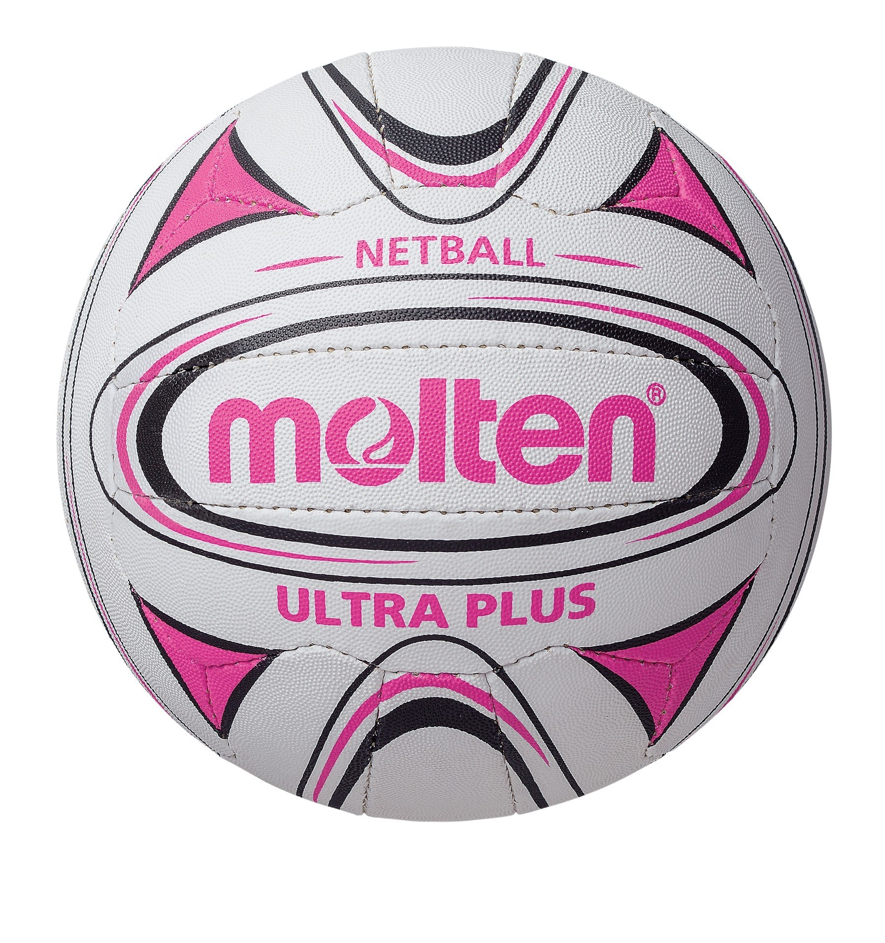 2018 Molten Ultra Plus Match Netball - White/Black/Pink